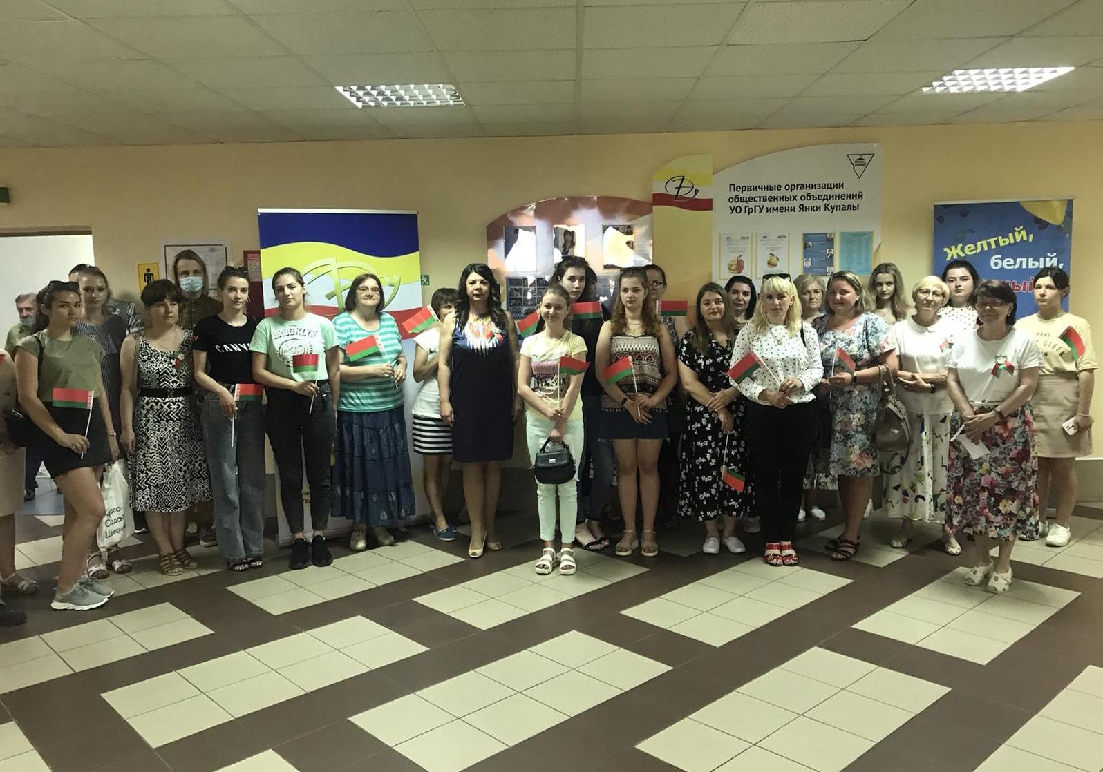 Представители факультета экономики и управления приняли участие в акциях «Память», организованных Купаловским университетом